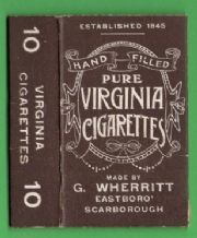 Collectable English Cigarette packet by Wherritt #066
